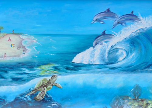 Aquatic Life Wall Mural