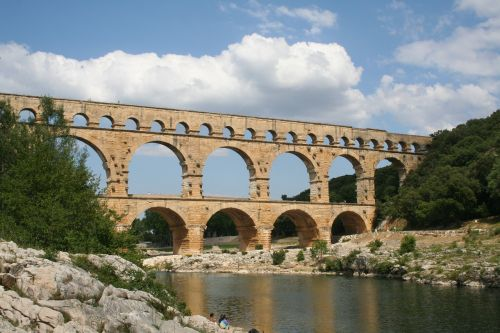 aqueduct france summer