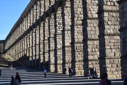 aqueduct segovia  structure  monument