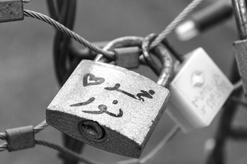 arabic key love lock
