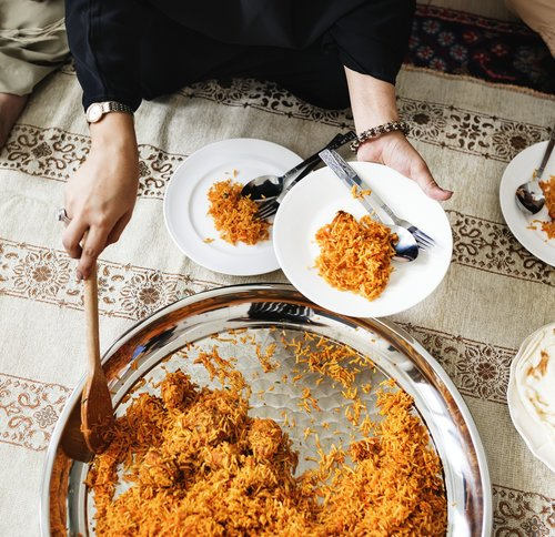 arabic  biryani  celebrating