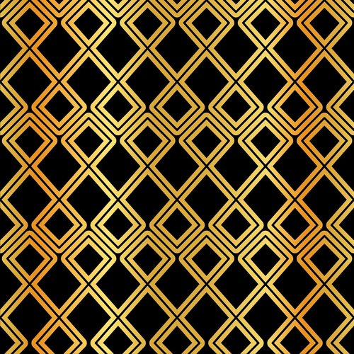 arabic pattern  gold and black  gold foil