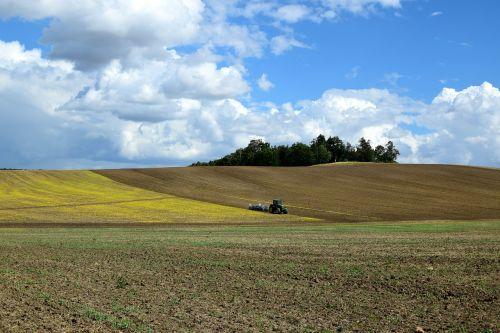 arable field landscape