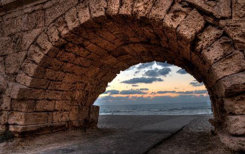 arc beach sunset
