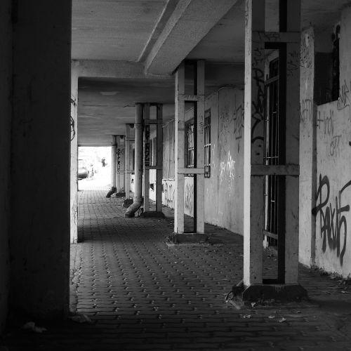 arcade urban weathered