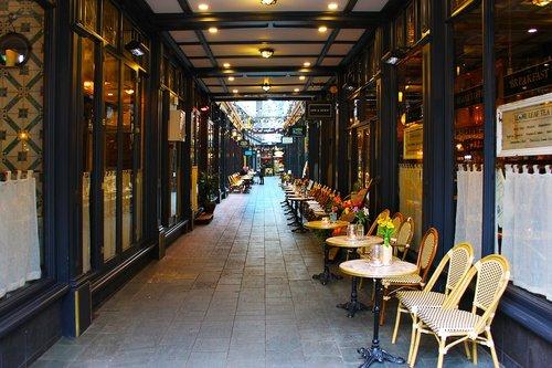 arcade walkway  passage  alleyway