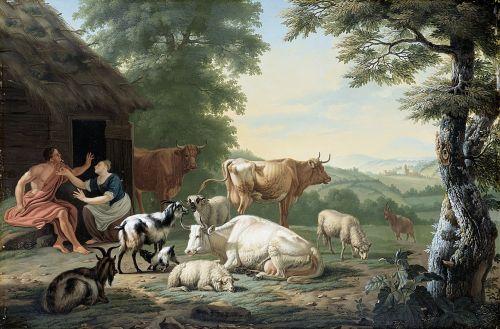 arcadian landscape shepherd