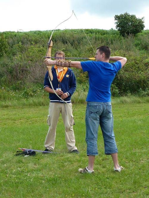 arch archery bow and arrow