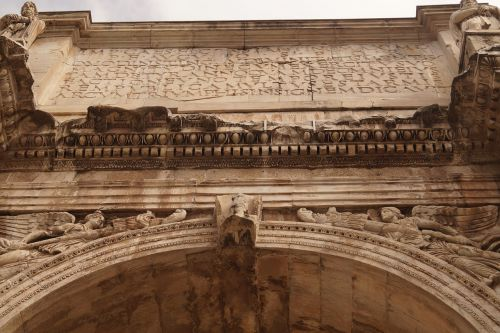 arch of constantine written roman holiday