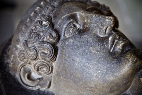 stone carving face archeology