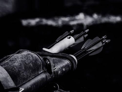 archery arrows close-up