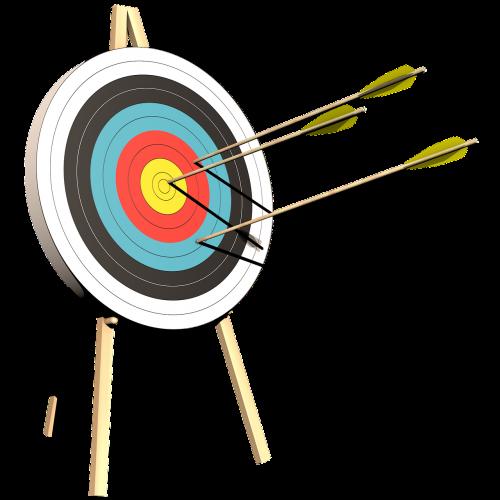 archery target arrows