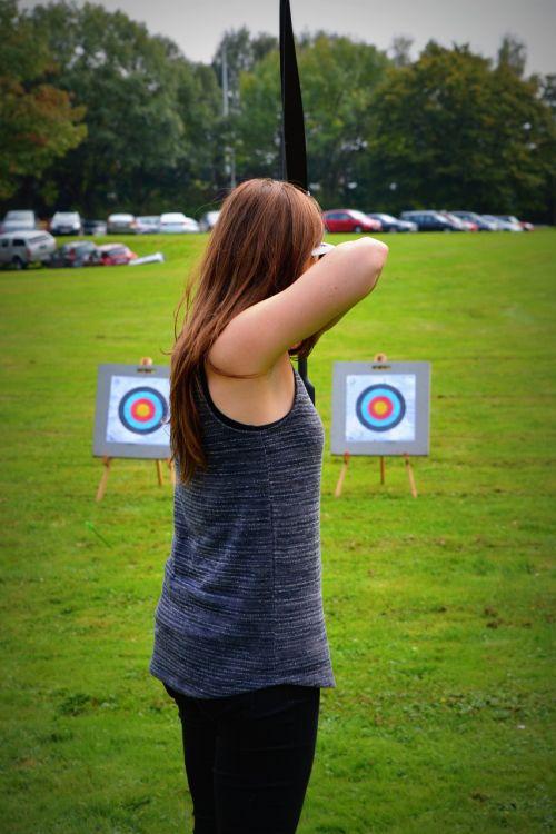 archery woman people