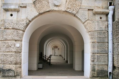 Arches Beneath Building