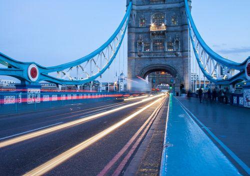 architecture bridge light streaks