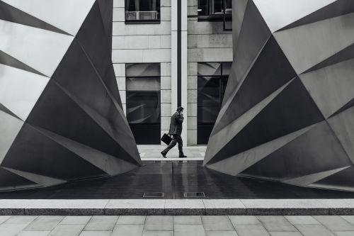 architecture building businessman