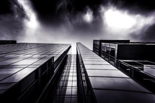 architecture building clouds