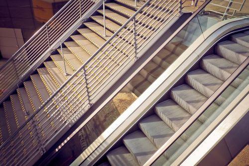 architecture stairs escalator