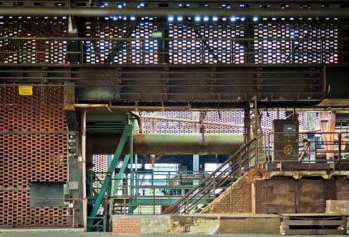 architecture steel mill factory building
