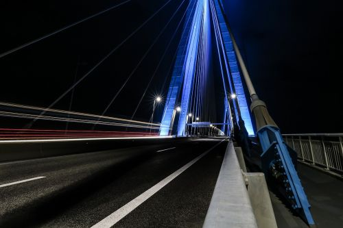 architecture,bridge,infrastructure,dark,night,lighting,street