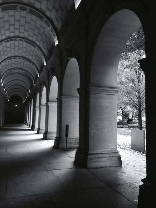 architecture buildings corridors
