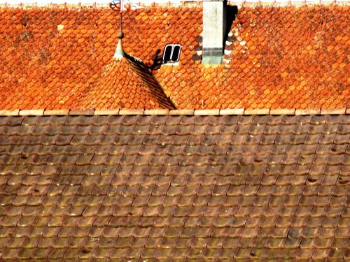 architecture house roofs clay tiles