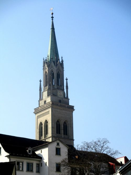 architecture church of st laurenzen steeple