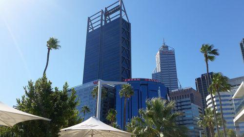 architektūra, dangus, miestas, kelionė, pastatas, perth, australia, wa, be honoraro mokesčio
