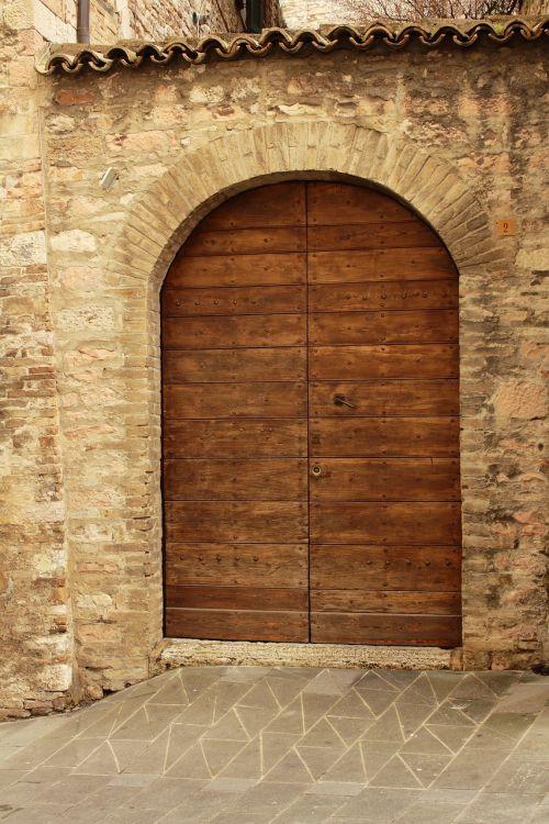 architecture door wood