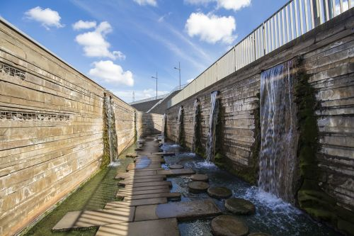 architecture waters waterfall