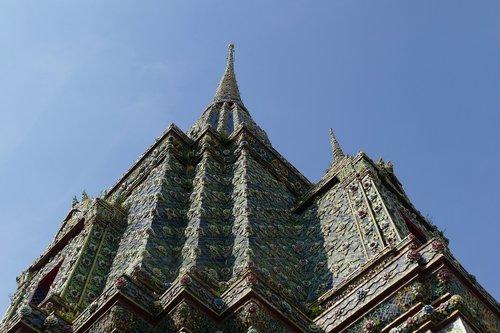 architektūra, Religija, Wat Pho, šventykla, Tailandas, Budizmas, buda, Wat, Lankytinos vietos, Bankokas, šventyklų kompleksas, Azijoje, religinis, harmonija, dvasinis, Stupa
