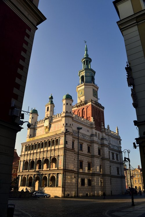 architecture  the town hall  poland