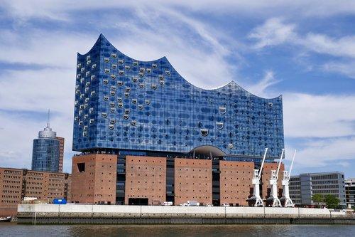 architecture  hamburg  port city