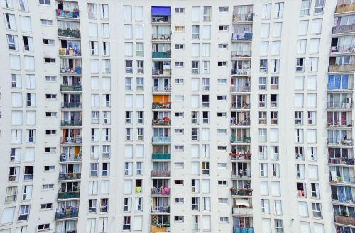 architecture facade balconies