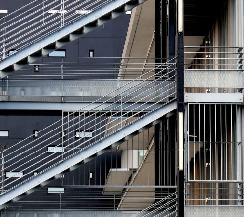 architecture metal stairs