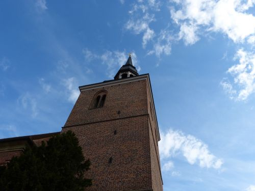 architecture steeple nauen germany