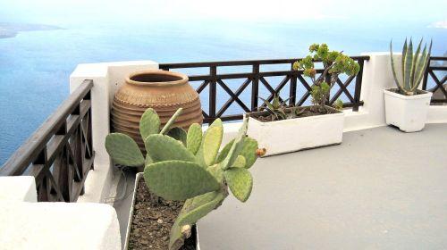 architecture santorini balcony greece