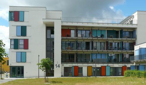 architektūra,moderni architektūra,namai,fasadas,užraktas,spalvinga,šiuolaikiška,pastatas,uni mainz
