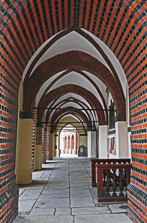 archway town hall stralsund