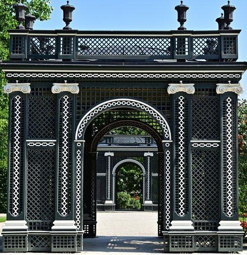 archway  schönbrunn palace  symmetry