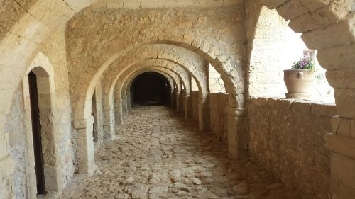 archway island of crete monastery