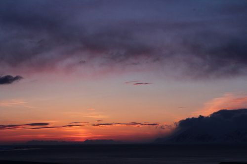 arctic sunset svalbard