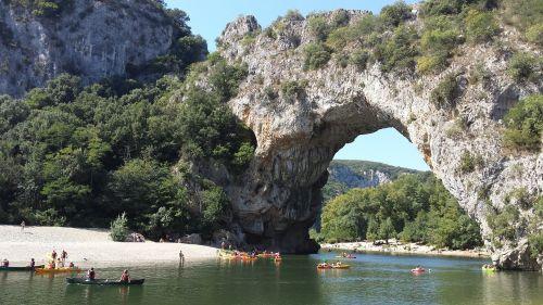 ardéche pont d'arc river