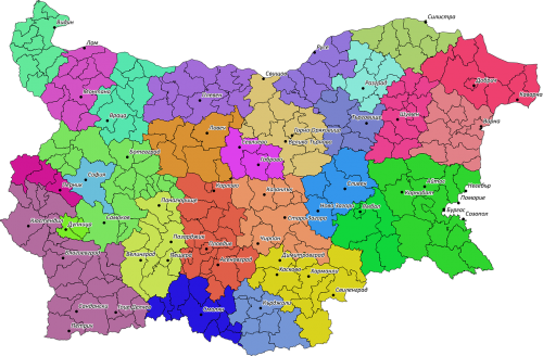 areas bulgaria map