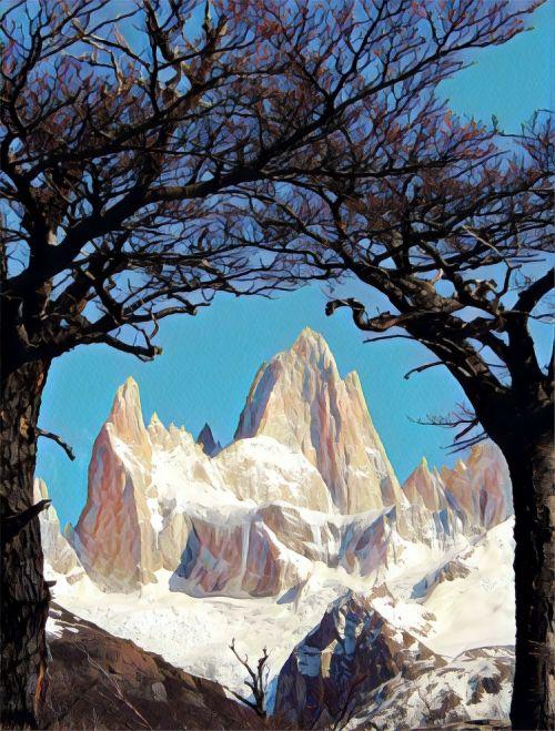 argentina mountains snow