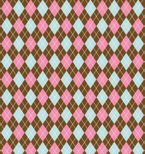 Argyle Pattern Background Colorful