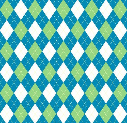Argyle Pattern Blue Green
