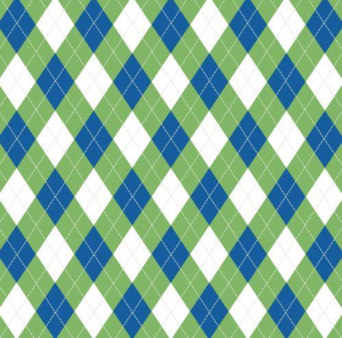 Argyle Pattern Green Blue