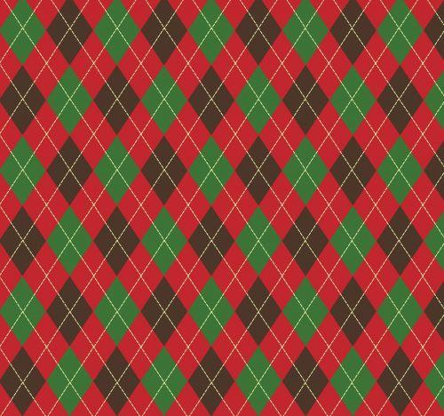Argyle Pattern Green Red