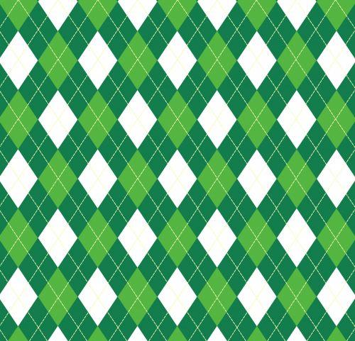 Argyle Pattern Green White